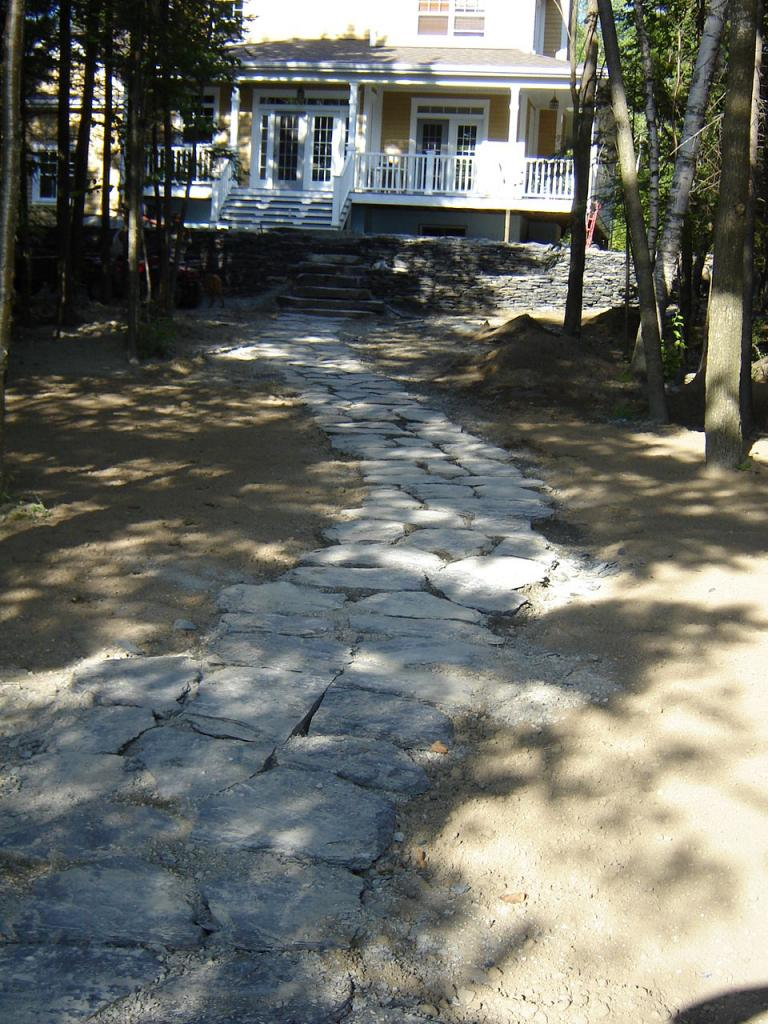 sentier d'ardoise, aménagement paysager